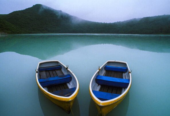 two boats in Tohoku, Japan