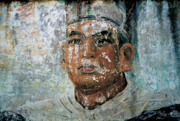 faded mural of Zheng He