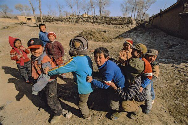 children play follow the leader