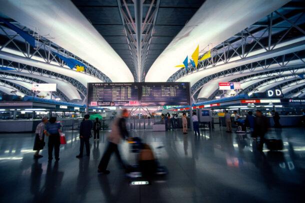 Inside Osaka International Airport