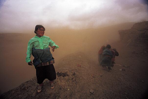 Sandstorm in Gansu, China.