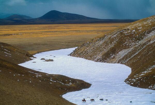 tibetan plateau with a lobe