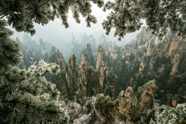peaks of the Wulingyuan National Forest park in China
