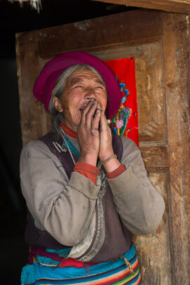 old chinese woman laughing