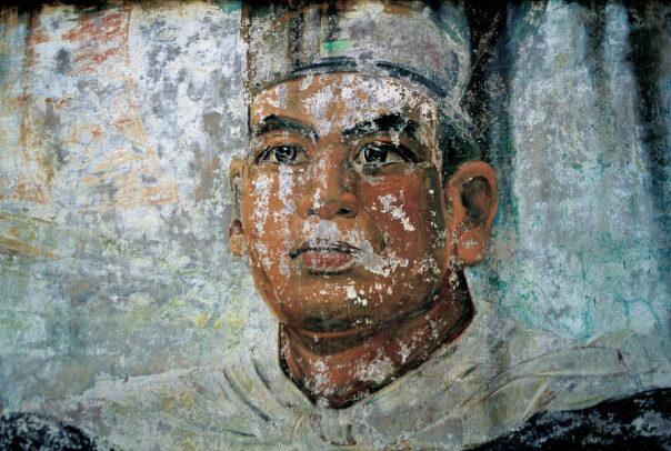 faded mural of Zheng He