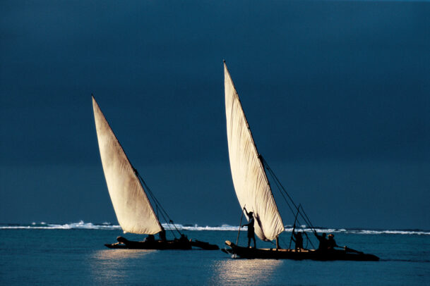 fishing boat in the northeast cost of Zanzibar