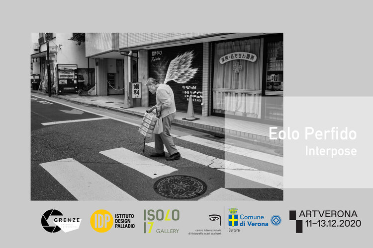 locandina Eolo Perfido mostra Interpose Verona street photography